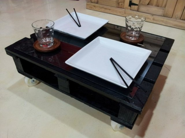 Ιδέες με ξύλινες παλέτες68