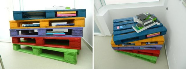 Ιδέες με ξύλινες παλέτες69