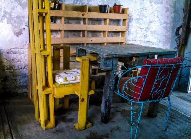 Ιδέες με ξύλινες παλέτες88