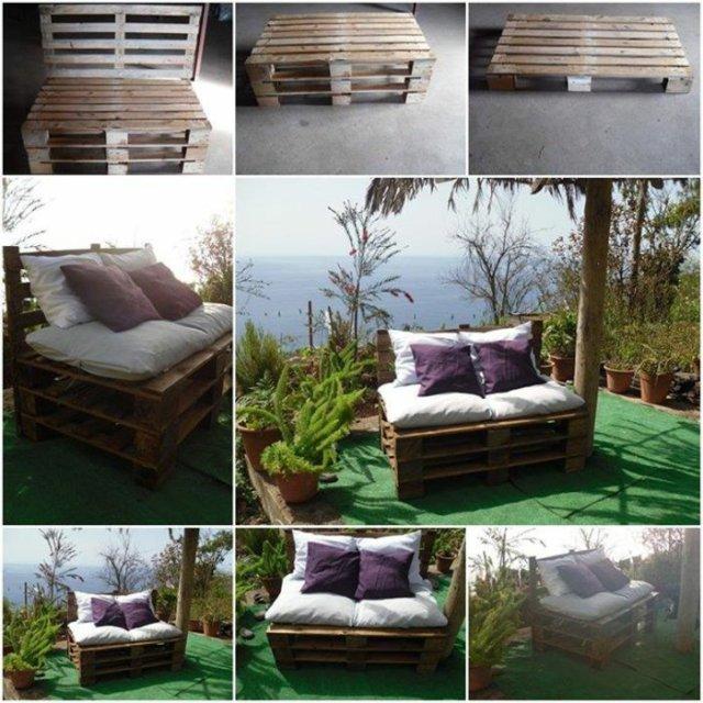 Ιδέες με ξύλινες παλέτες95