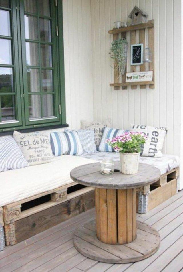 Ιδέες με ξύλινες παλέτες96
