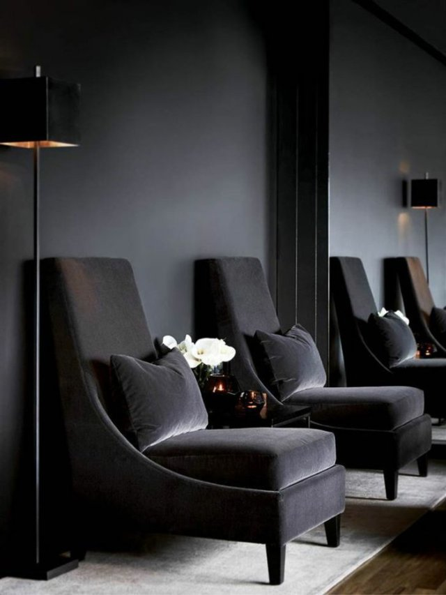 wall decoration ideas in dark shades14