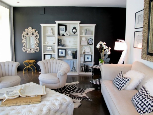 wall decoration ideas in dark shades38