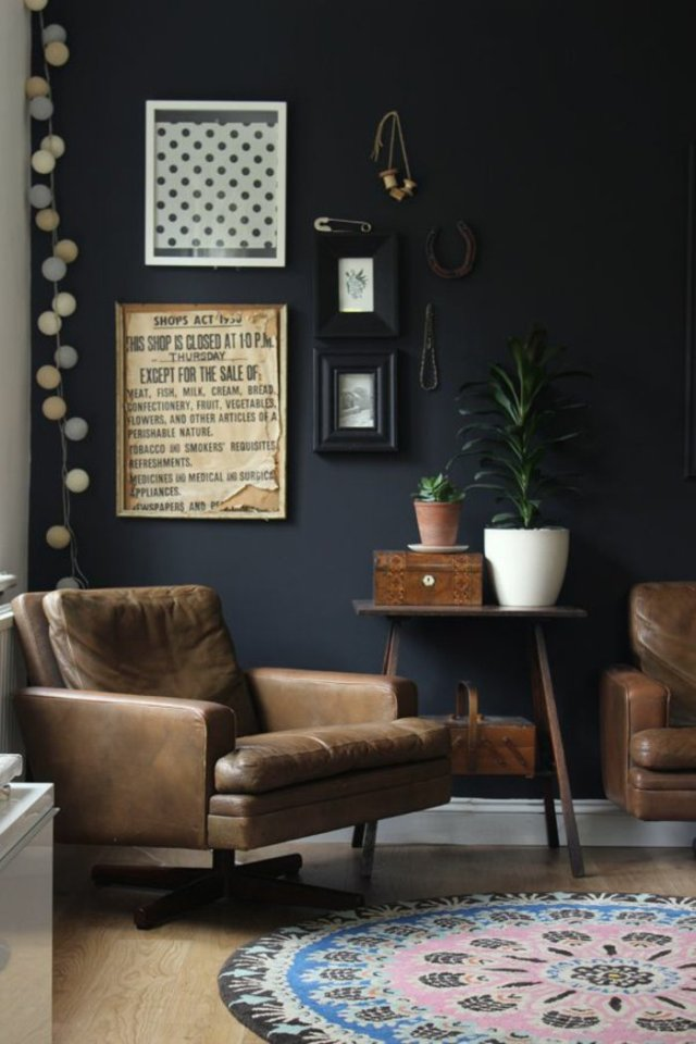 wall decoration ideas in dark shades4