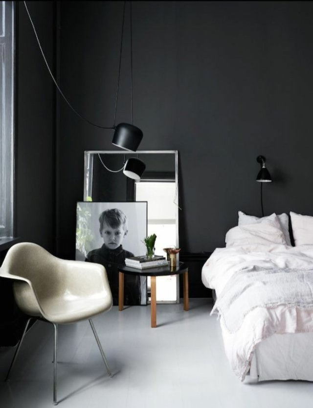 wall decoration ideas in dark shades42