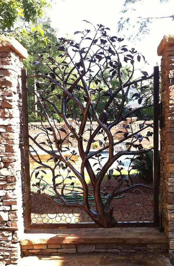 diy σκουριασμένα διακοσμητικά για τον κήπο5