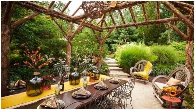 κήπος με πέργκολα ιδέες7