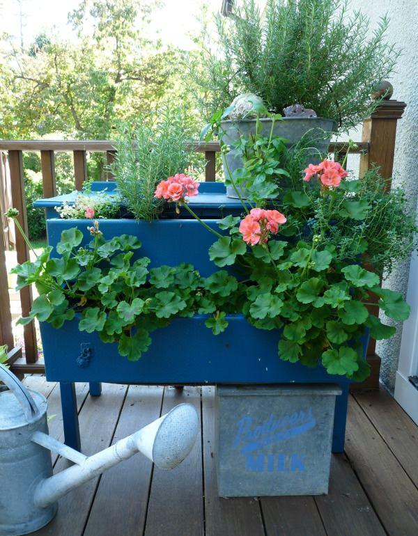 DIY ιδέες γλάστρας από οικιακά είδη2