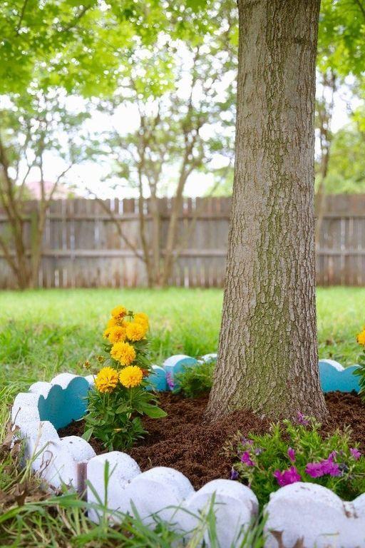 παρτέρια γύρω από δέντρα15