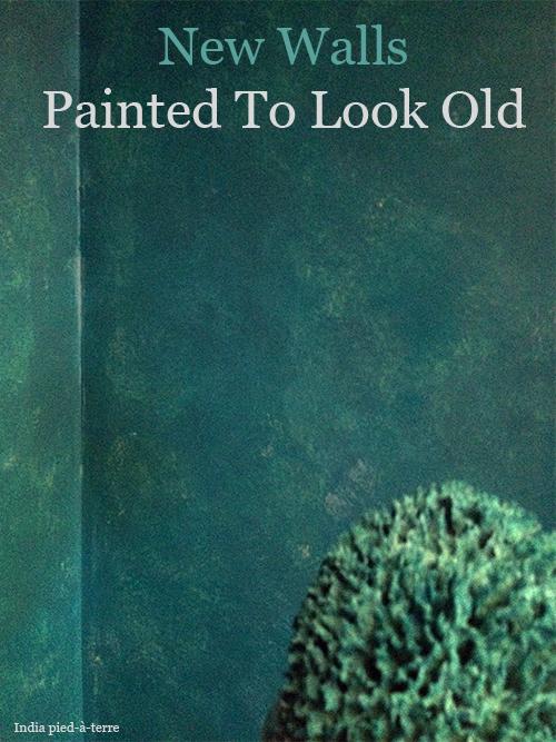 βαψετε ένα καινουργιο τοίχο για να φαίνεται παλιός