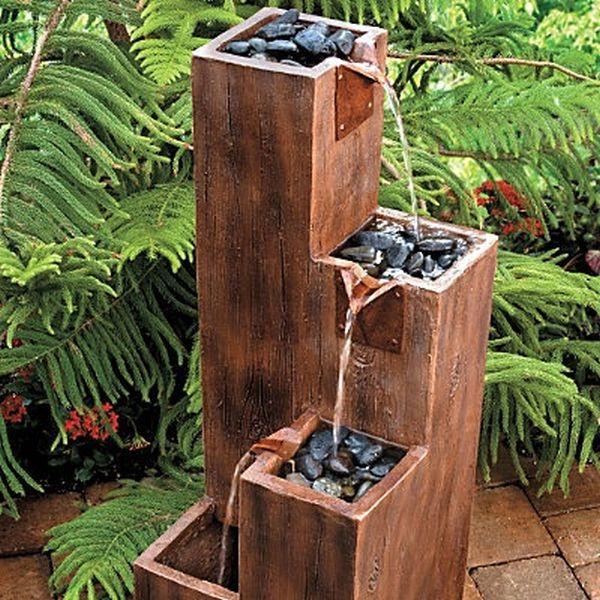 ξύλινα σιντριβάνια κήπου2