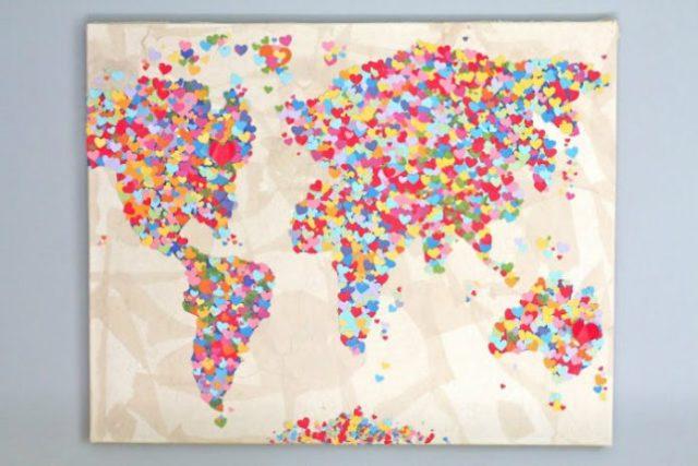 Diy United Colors of Love Παγκόσμιος Χάρτης1