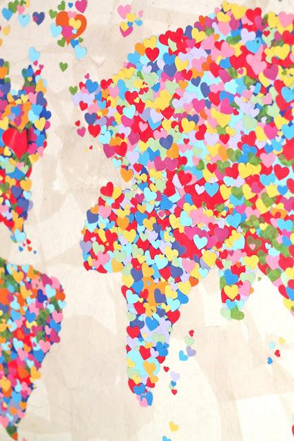 Diy United Colors of Love Παγκόσμιος Χάρτης11