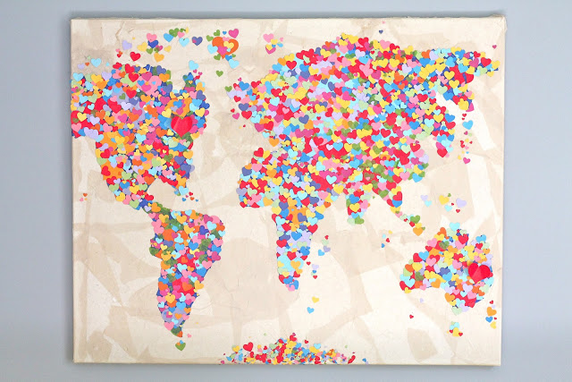 Diy United Colors of Love Παγκόσμιος Χάρτης6