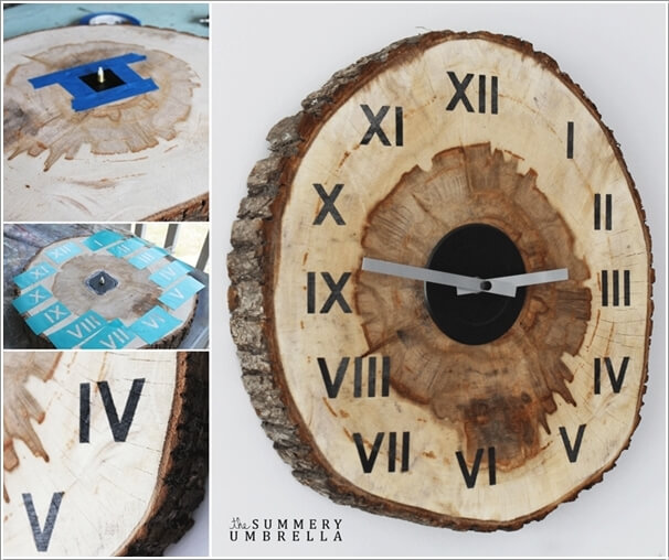diy ιδέες διακόσμησης τοίχου με φέτες ξύλου4