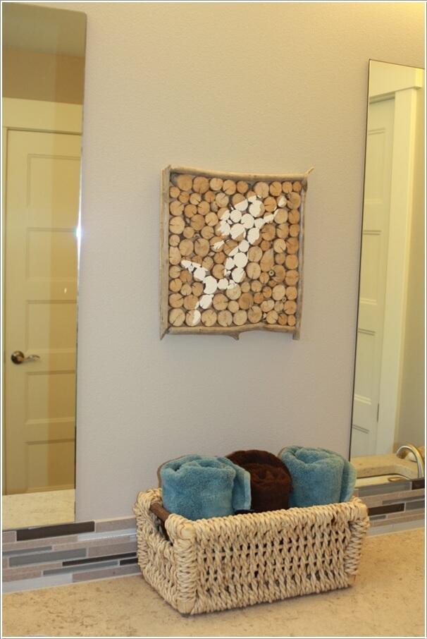 diy ιδέες διακόσμησης τοίχου με φέτες ξύλου9