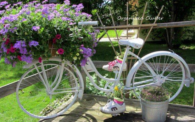 Ιδέες για γλάστρες με παλιά ποδήλατα1
