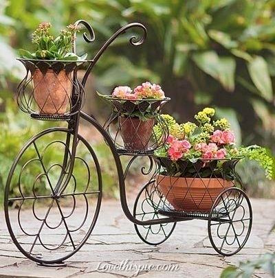 Ιδέες για γλάστρες με παλιά ποδήλατα5