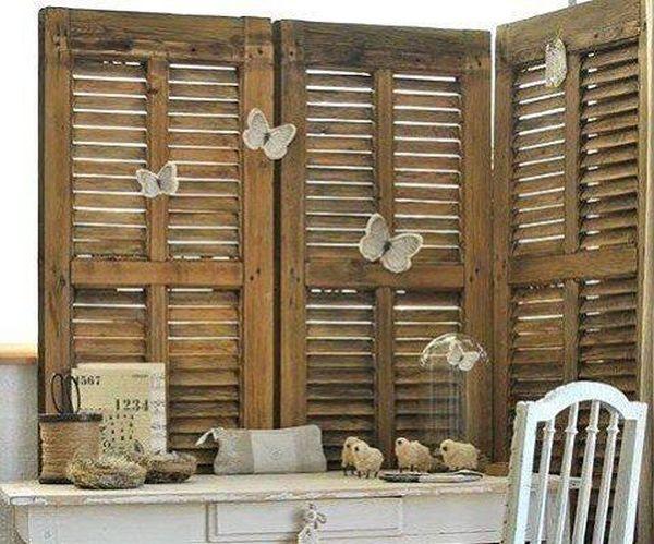 διακοσμήσεις από παλαιά ξύλινα παντζούρια19