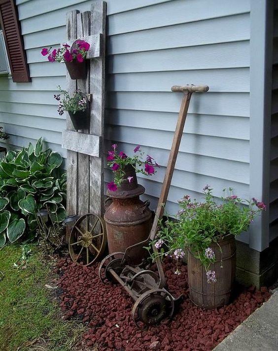 ιδέες χωριάτικης διακόσμησης κήπου2