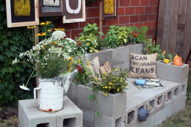 DIY ιδέες κήπου με μπλόκα10