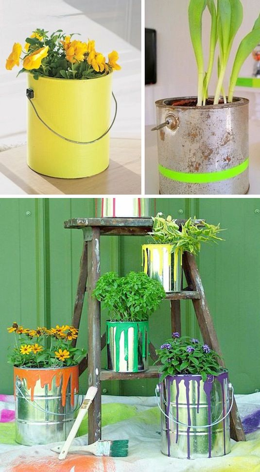 diy ιδέες για γλάστρες κήπου3