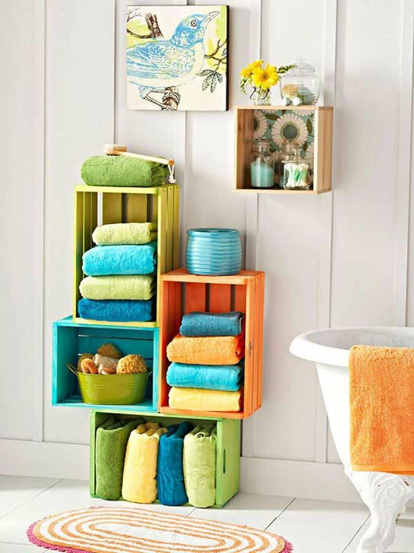 ιδέες αποθήκευση πετσετών για το μπάνιο7