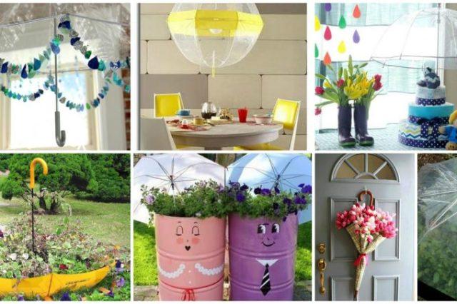 ιδέες διακόσμησης με ομπρέλες