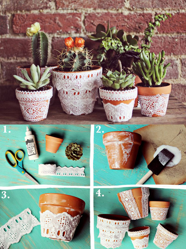 DIY ιδέες με γλάστρες1