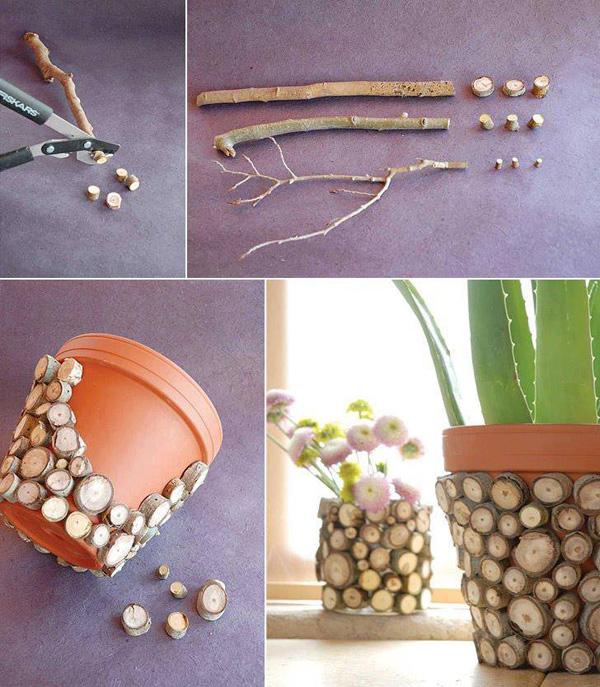 DIY ιδέες με γλάστρες14