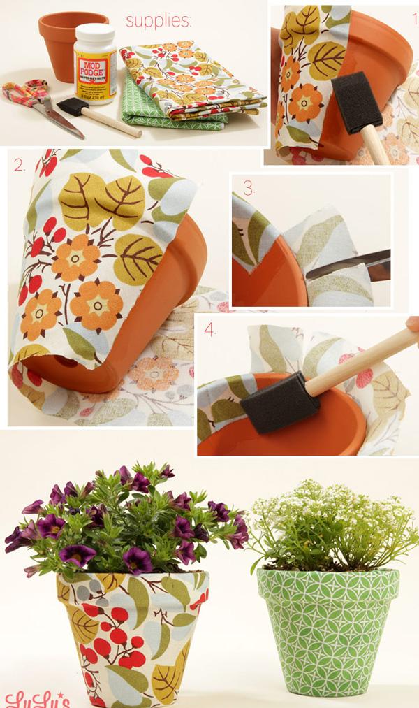 DIY ιδέες με γλάστρες17