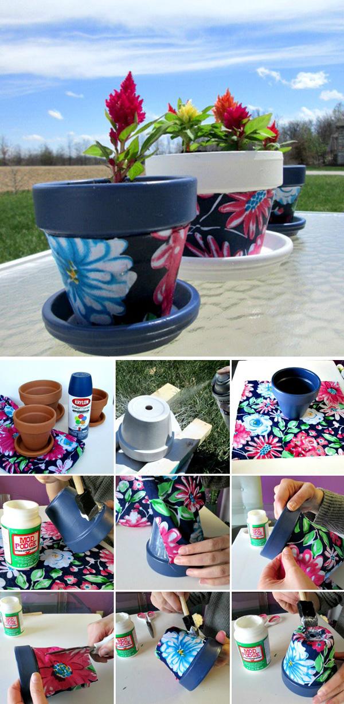 DIY ιδέες με γλάστρες19
