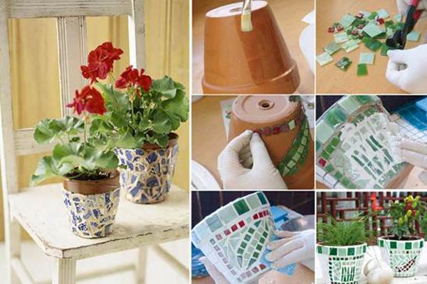 DIY ιδέες με γλάστρες26