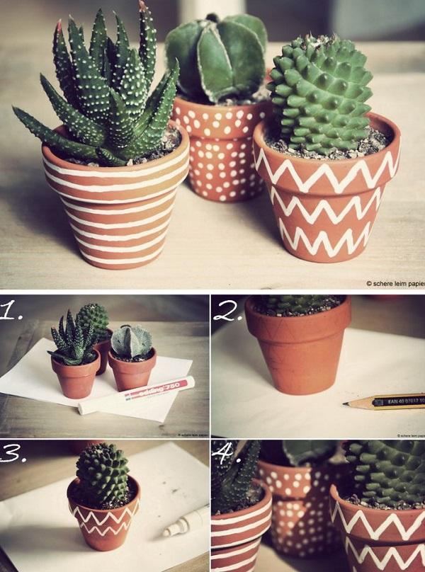DIY ιδέες με γλάστρες44