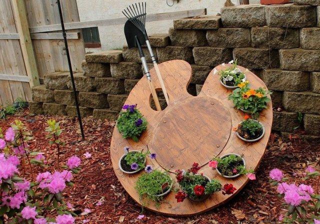 Καλιτεχνικές ιδέες διακόσμησης κήπου5