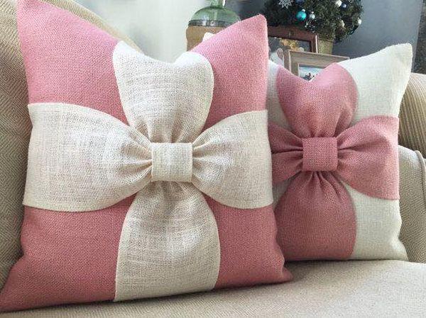 μαξιλάρια από λινάτσα και δαντέλα26