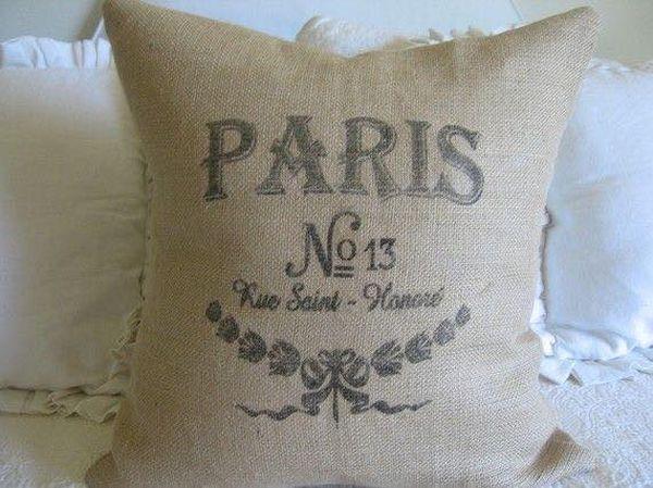 μαξιλάρια από λινάτσα και δαντέλα33