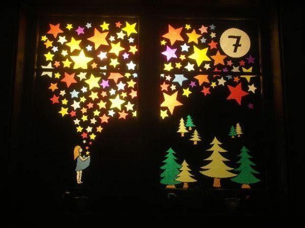 Χριστουγεννιάτικη διακόσμηση παραθύρων2