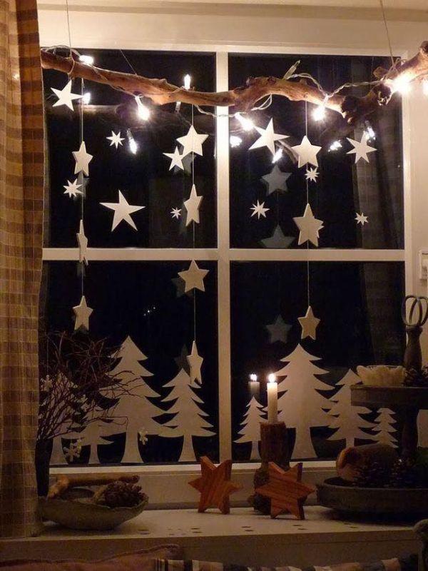 Χριστουγεννιάτικη διακόσμηση παραθύρων6