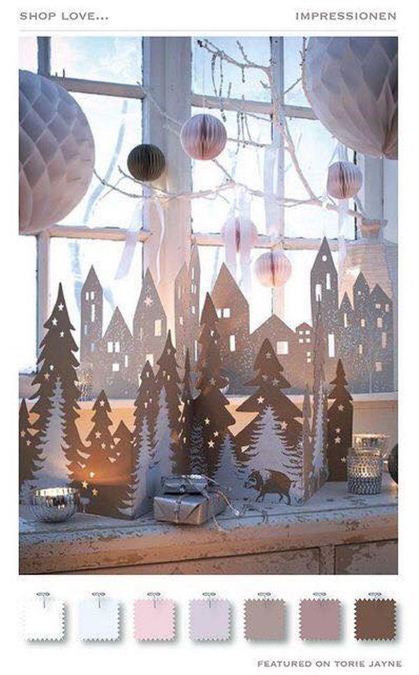 Χριστουγεννιάτικη διακόσμηση παραθύρων8