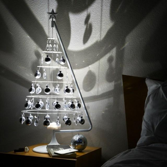 χριστουγεννιάτικη διακόσμηση σε άσπρο - μαύρο11