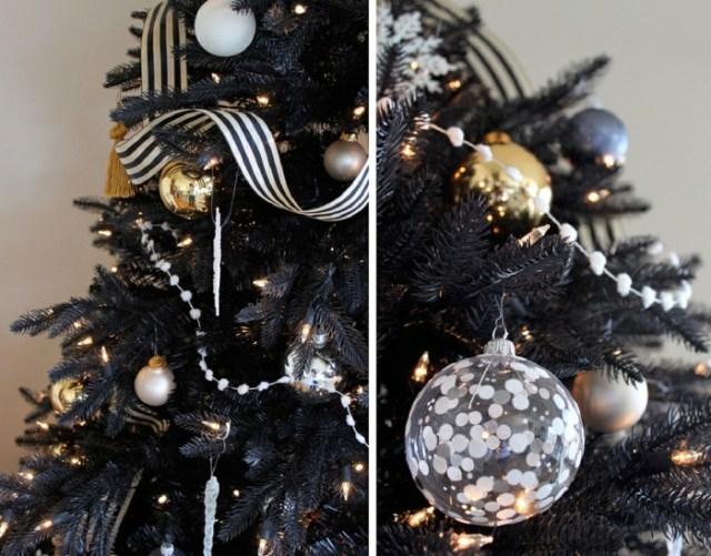 χριστουγεννιάτικη διακόσμηση σε άσπρο - μαύρο17