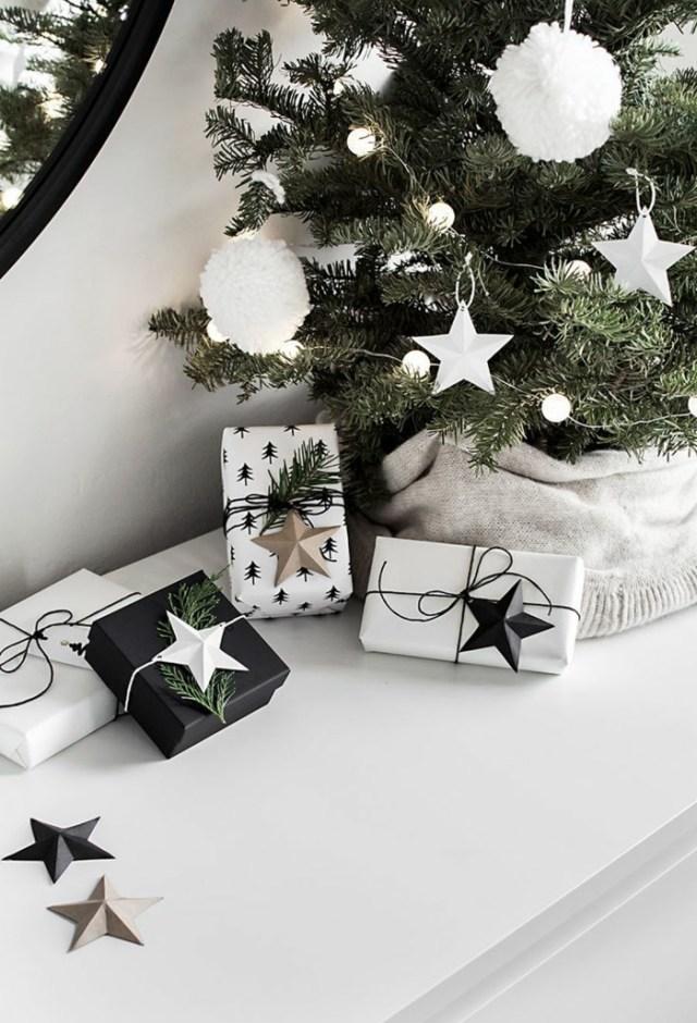 χριστουγεννιάτικη διακόσμηση σε άσπρο - μαύρο28
