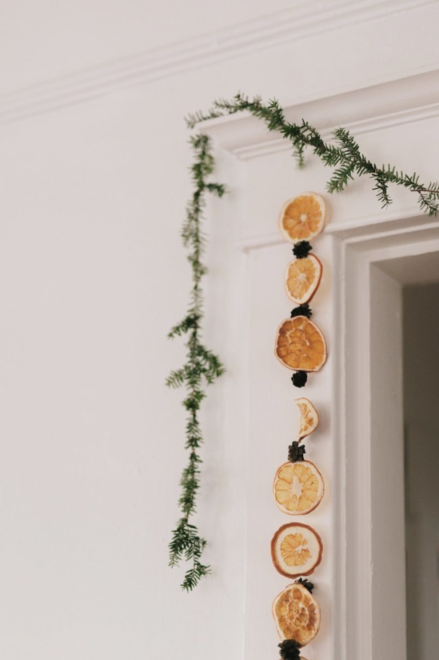 Χριστουγεννιάτικη διακόσμηση με πορτοκάλια6