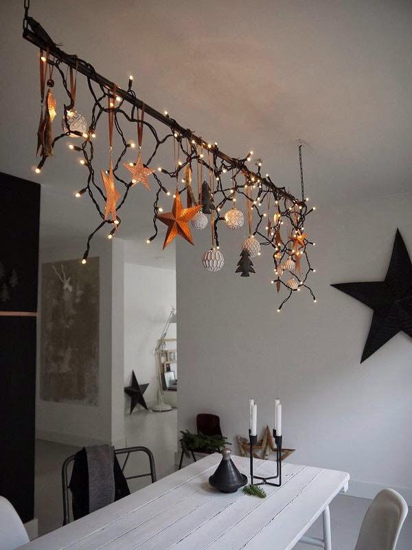 Χριστουγεννιάτικη διακόσμηση με φωτάκια LED12
