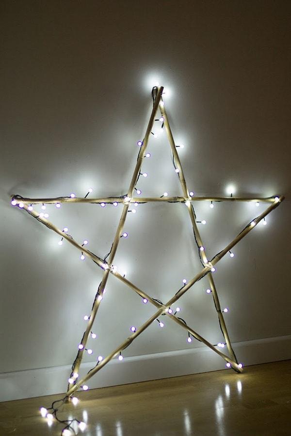 Χριστουγεννιάτικη διακόσμηση με φωτάκια LED8
