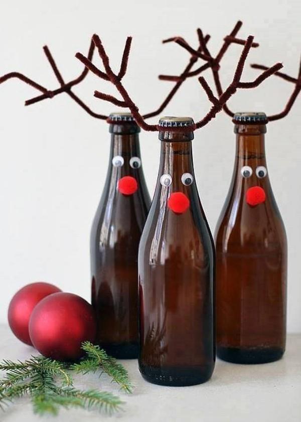 DIY Χριστουγεννιάτικη διακόσμηση από γυάλινα μπουκάλια8
