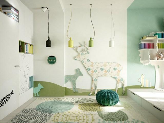 Μοντέρνα σχεδίαση παιδικού δωματίου3