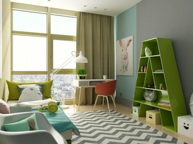 Μοντέρνα σχεδίαση παιδικού δωματίου5