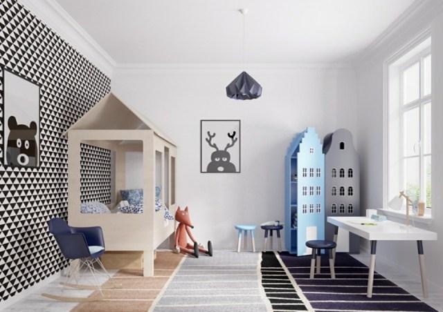 Μοντέρνα σχεδίαση παιδικού δωματίου8